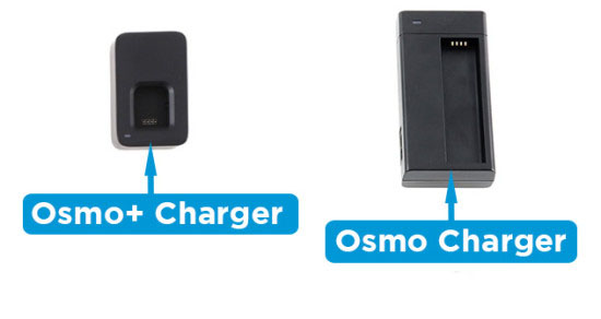 Osmo+ charger vs Osmo charger