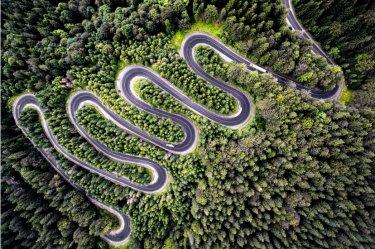 Road Romani shot by dji drone