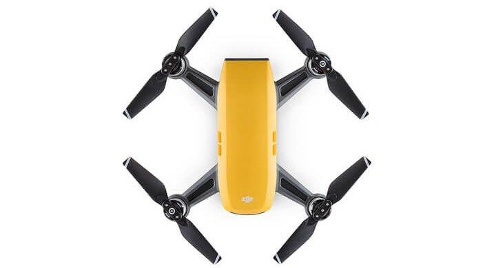 yellow DJI Spark