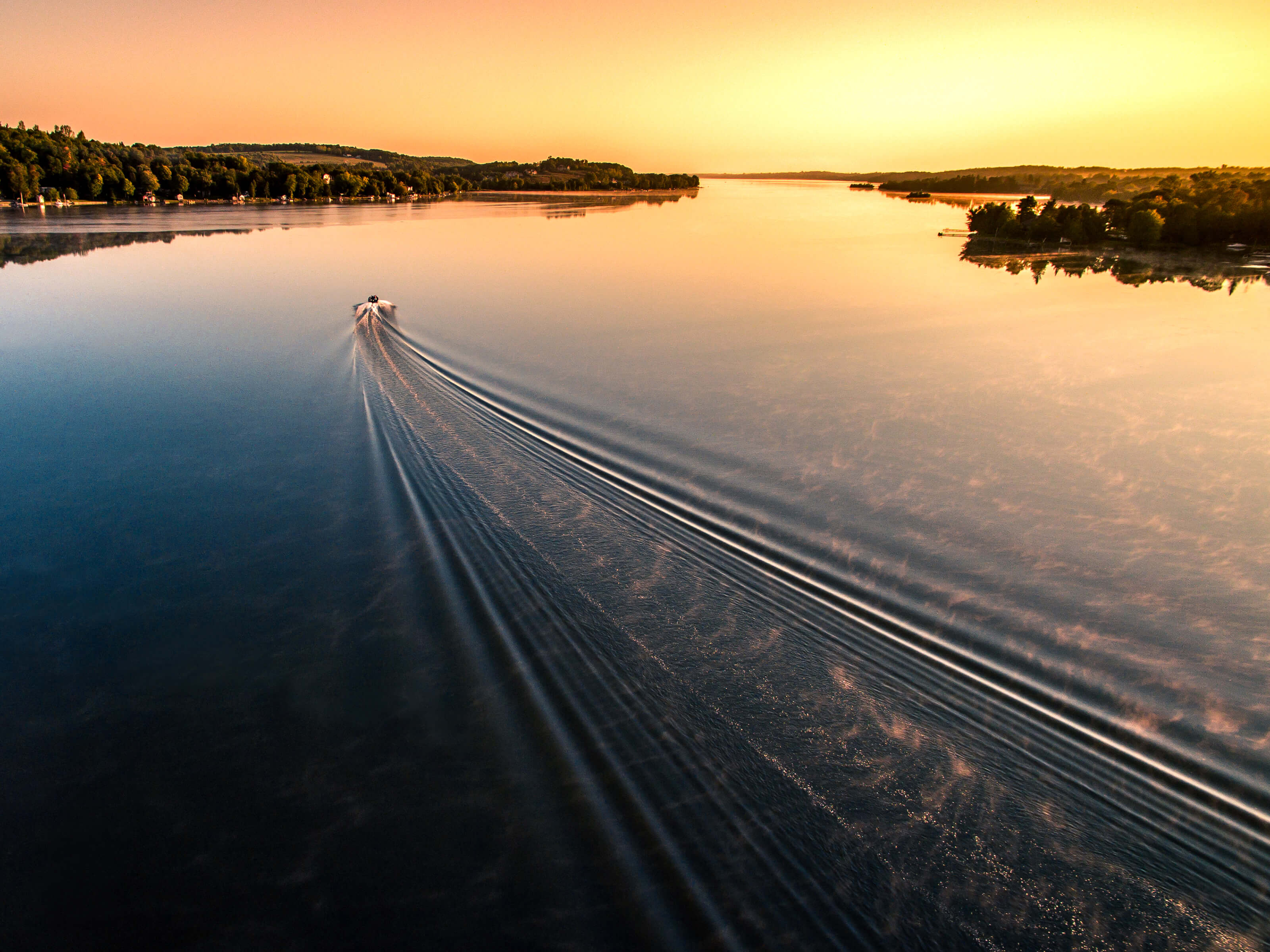Photo: Sunrise Lake Wake – Inspire 1 X3