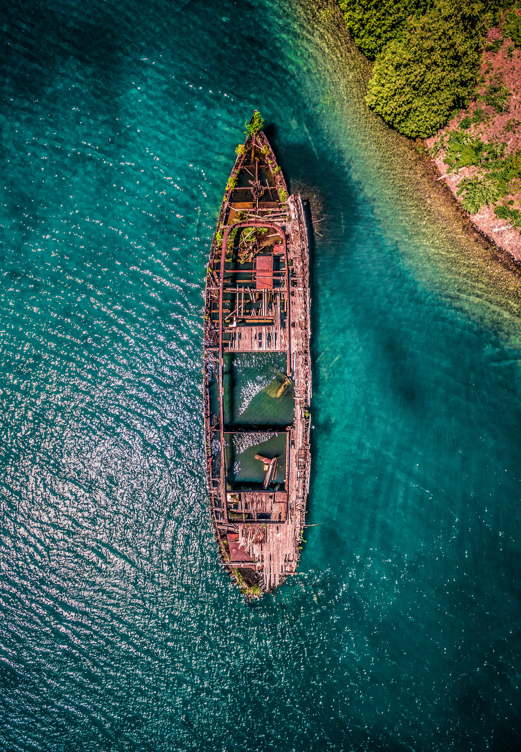 Photo: Gargantua Shipwreck, Bruce Peninsula, Ontario, Canada – Inspire 1 and Zenmuse X3