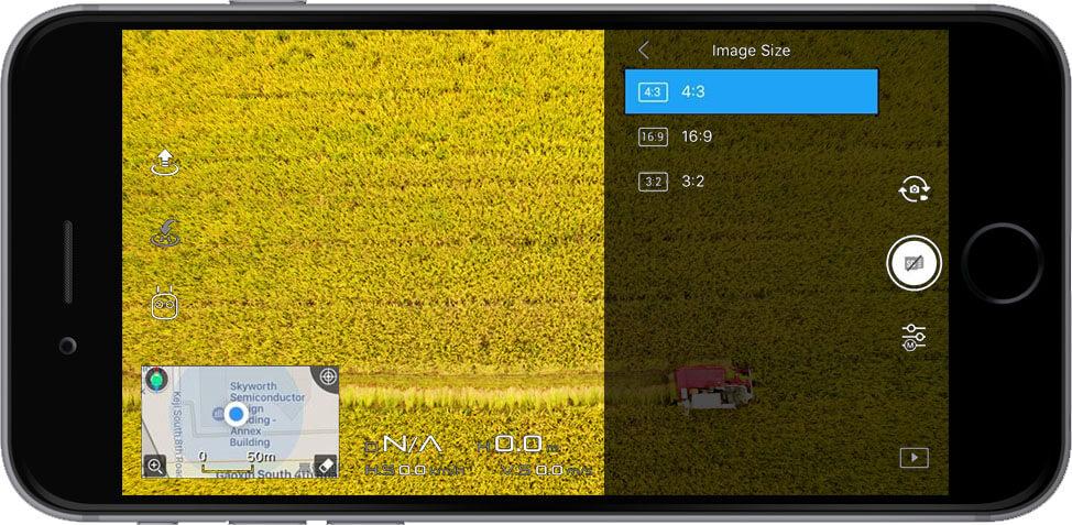 DJI Go 4 Manual Camera Settings Image Size