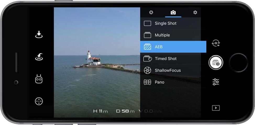 DJI Go 4 Manual Camera Settings Photo