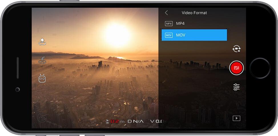 DJI Go 4 Manual Camera Settings Video Format